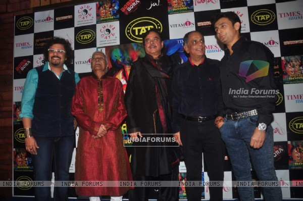 Celebs pose for the media at Sonu Nigam and Bickram Ghosh's Album Launch