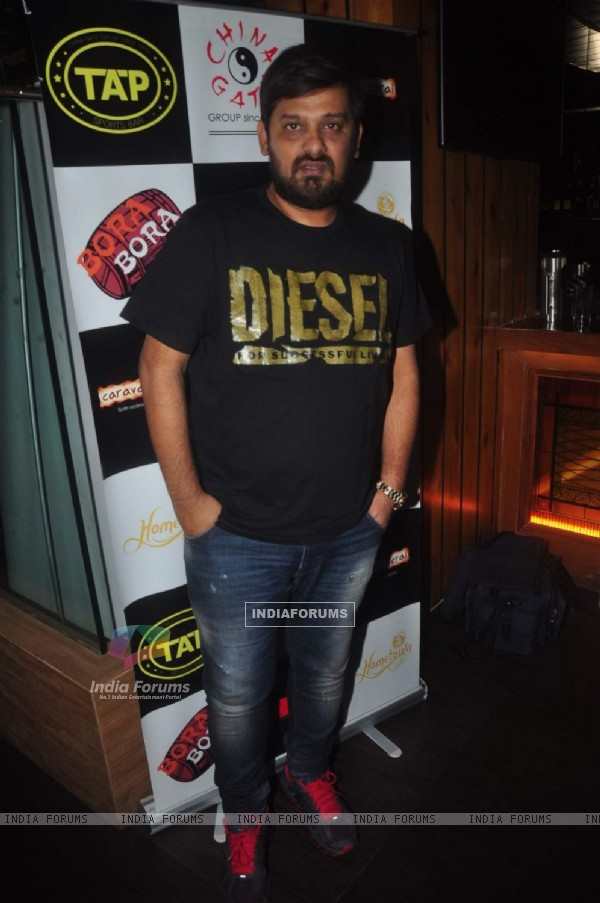 Wajid Ali poses for the media at Sonu Nigam and Bickram Ghosh's Album Launch