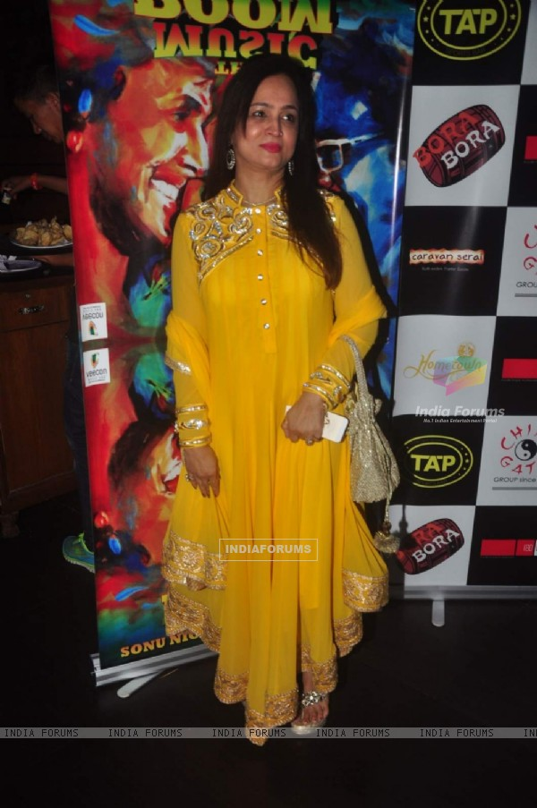 Smita Thackarey poses for the media at Sonu Nigam and Bickram Ghosh's Album Launch