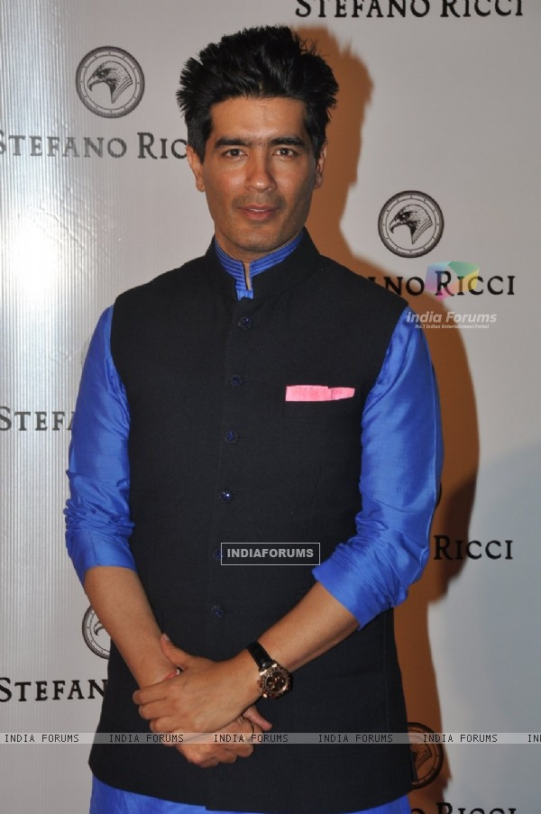 Manish Malhotra poses for the media at Stefano Ricci Launch in India