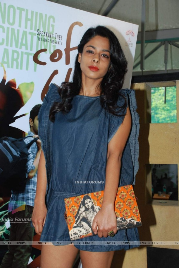 Sugandha Garg poses for the media at the Press Conference of Coffee Bloom