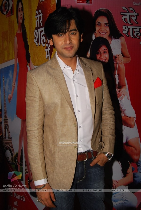 Shashank Vyas poses for the media at the Launch of Tere Sheher Mein