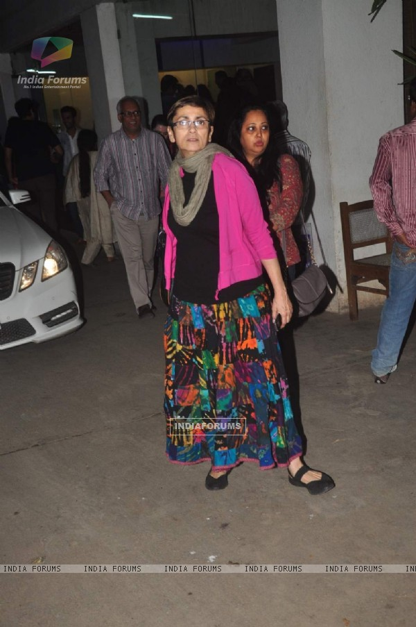 Deepa Sahi poses for the media at the Screening Held by Rajkumar Rao