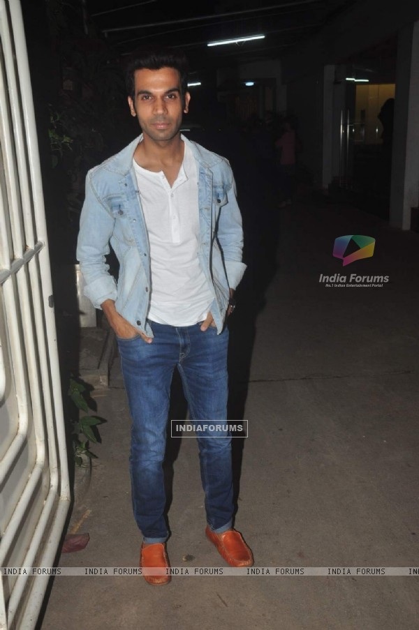 Rajkumar Rao poses for the media at the Screening