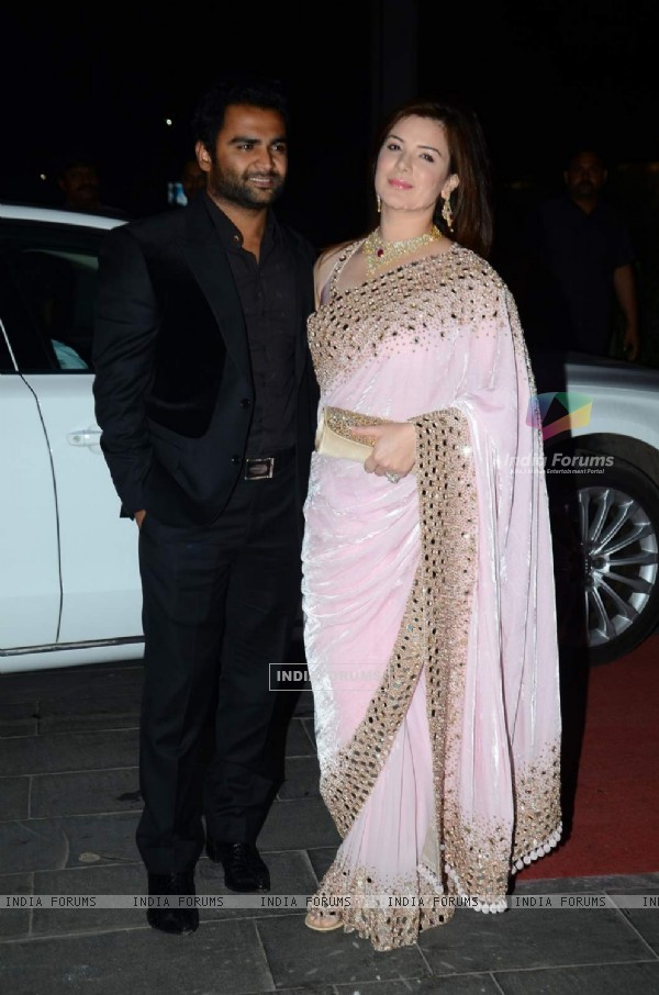 Sachin Joshi and Urvashi Sharma were at Tulsi Kumar's Wedding Reception