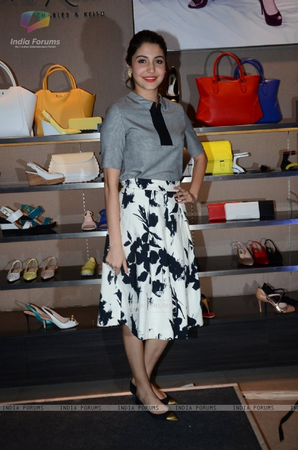 Anushka Sharma poses for the media at the Launch of NH10 Spring Summer 2015 Collection