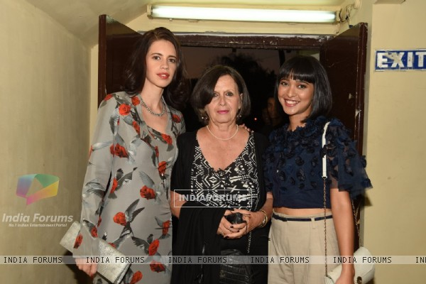 Kalki Koechlin poses for the media at the Trailer Launch of Margarita, with a Straw