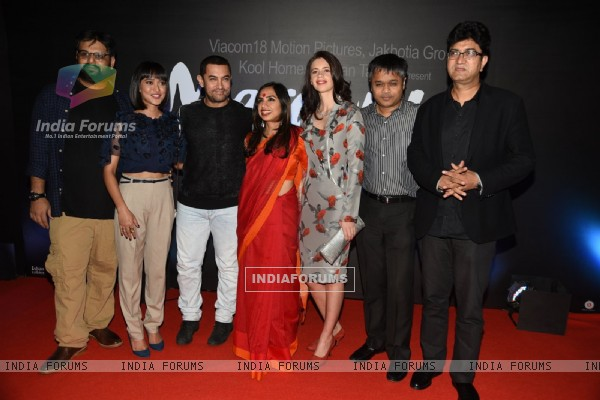 Team poses for the media at the Trailer Launch of Margarita, with a Straw