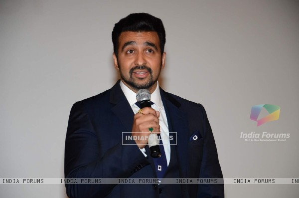 Raj Kundra interacts with the audience at the Launch of Shilpa Shetty's New Home Shop Venture