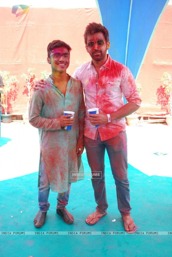 Rohan Shah poses for the media at Holi Celebrations