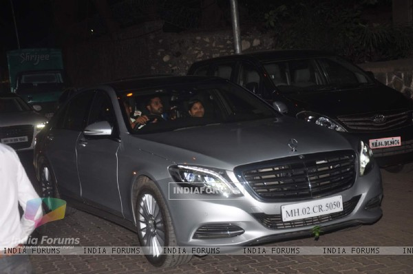 Abhishek Bachchan was snapped with daughter at Anu Dewan's Son's Birthday Bash