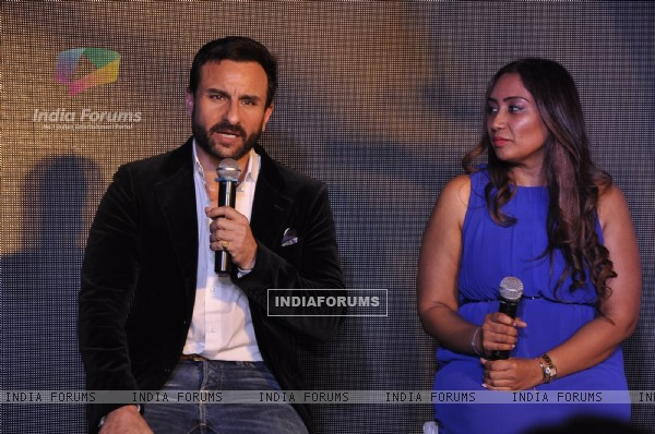 Saif Ali Khan interacts with the audience at Visit Britain Event