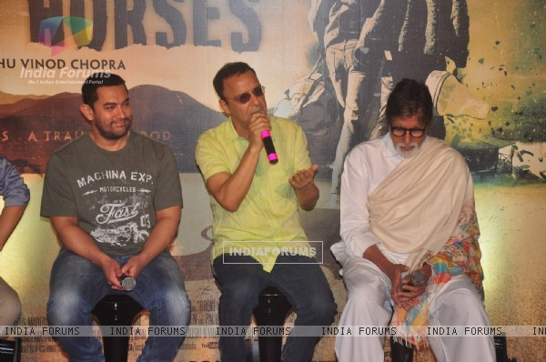 Vidhu Vinod Chopra interacts with the audience at the Trailer Launch of Broken Horses