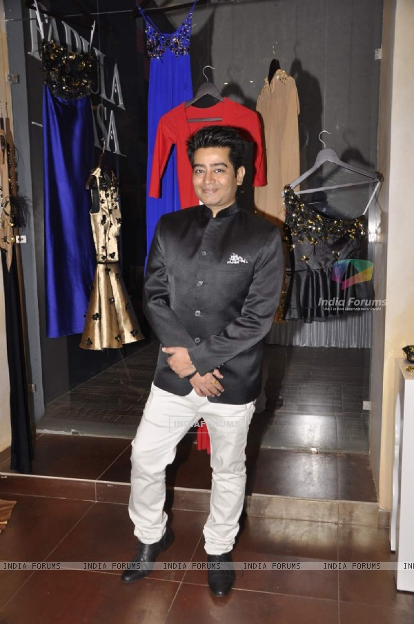 Designer Harsh poses for the media at Fabula Rasa Collection Launch