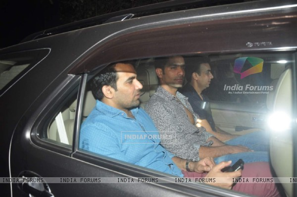 Angad Bedi and Zaheer Khan were snapped at the Special Screening of NH10
