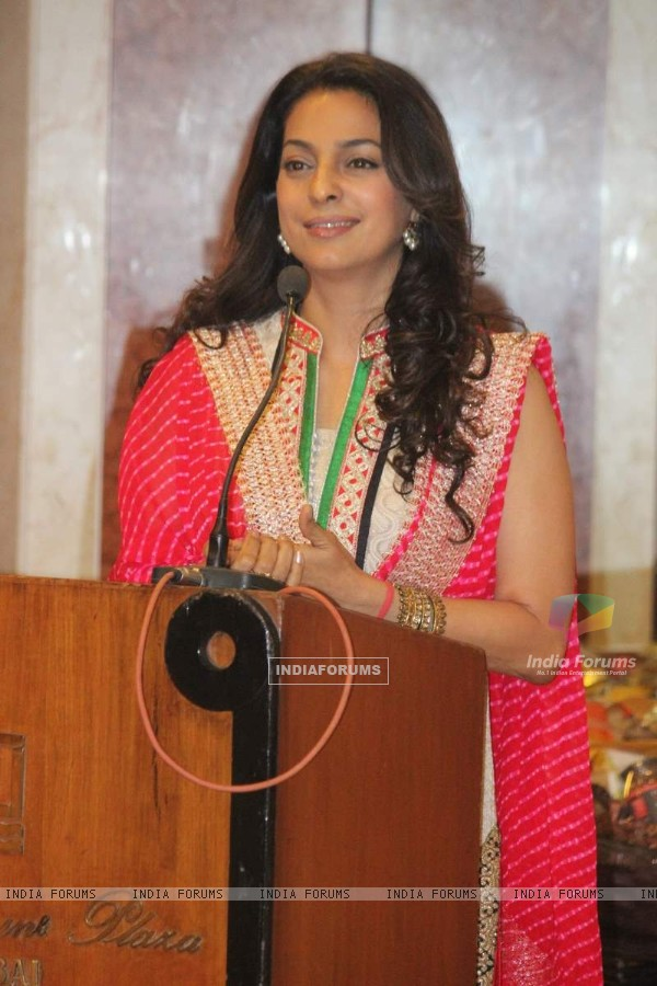 Juhi Chawla addresses the Inauguration of Dialysis Centre at Dalvi Hospital