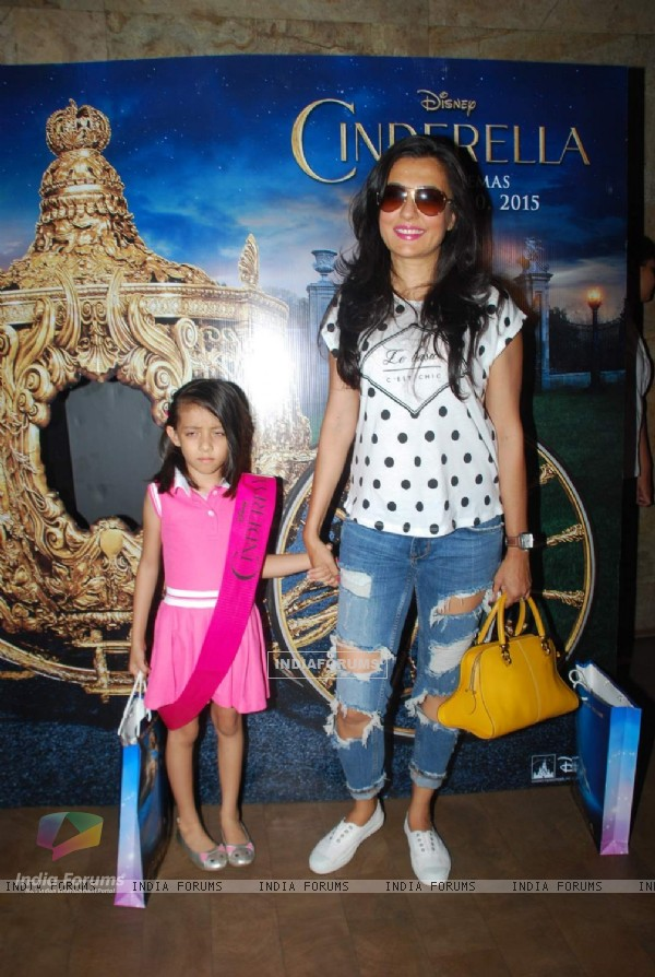 Mini Mathur with her daughter were seen at the Screening of Cindrella