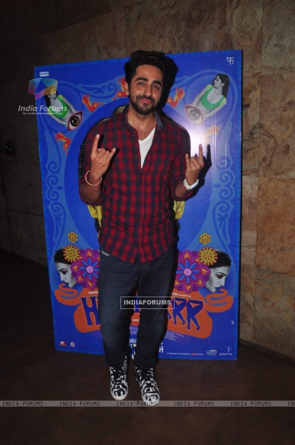 Ayushmann Khurrana was at the Special Screening of Hunterrr