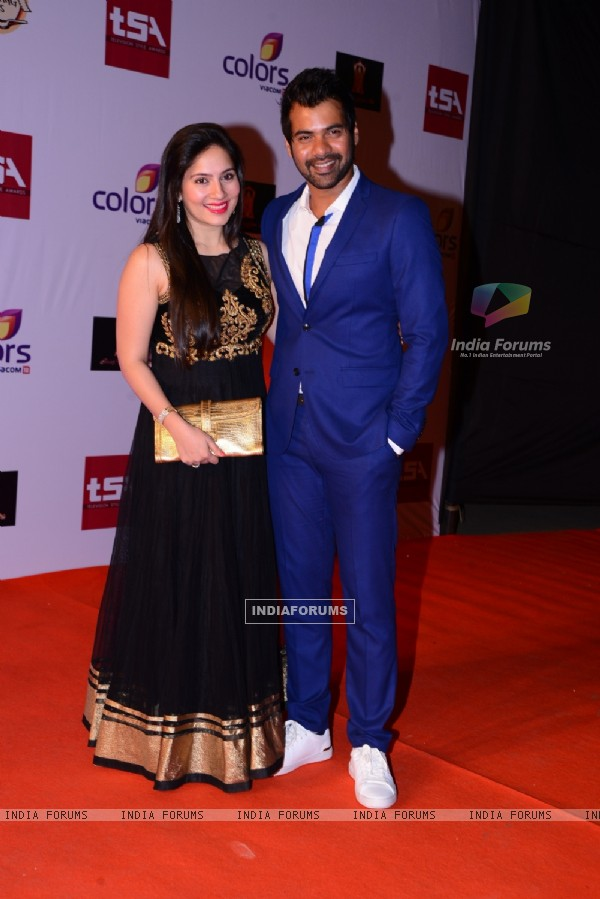 Kanchi Kaul and Shabbir Ahluwalia were seen at the Television Style Awards