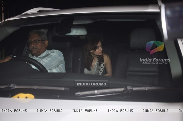 Dia Mirza was snapped at Arbaaz Khan's Bash