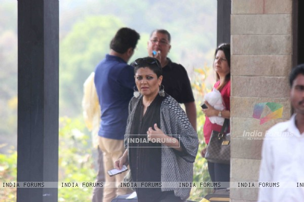 Tanvi Azmi at Aamir Khan's 50th Birthday Bash in Lonavla