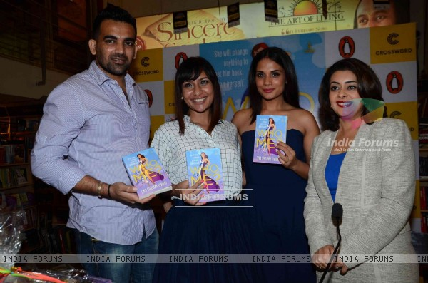 Richa Chadda and Zaheer Khan at the Launch of Tina Sharma's Book 'Who Me'