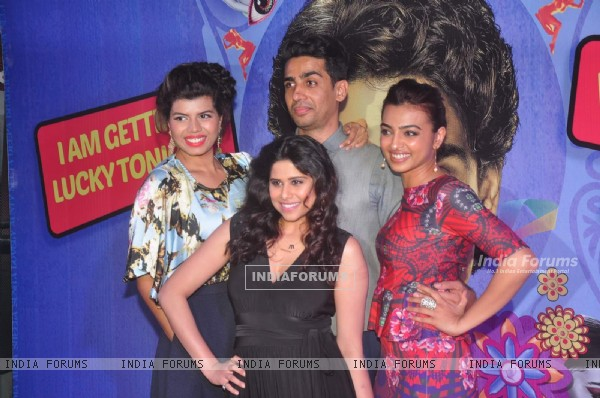 Team poses for the media at the Premier of Hunterrr