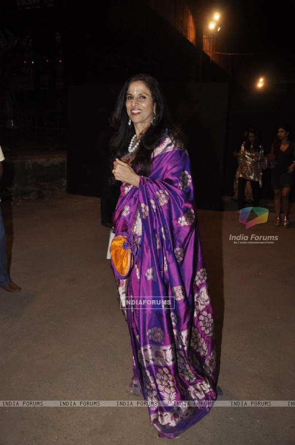 Shobha De poses for the media at LFW Opening Show for Sabyasachi Mukherjee