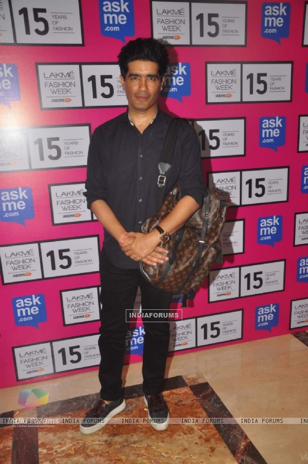 Manish Malhotra was at the Lakme Fashion Week 2015 Day 1
