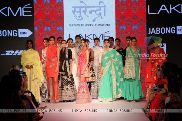 Yogesh Chaudhary's show at the Lakme Fashion Week 2015 Day 1