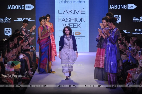 Krishna Mehta's show at the Lakme Fashion Week 2015 Day 1