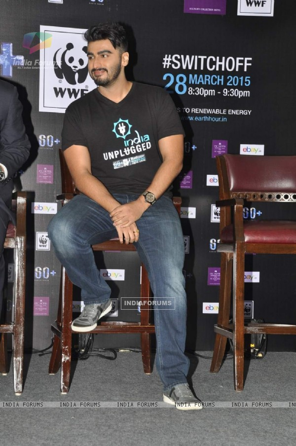 Arjun Kapoor was snapped at Earth Hour Press Meet