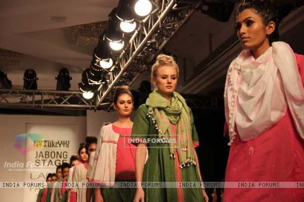 A show by Not Like That at the Lakme Fashion Week 2015 Day 2