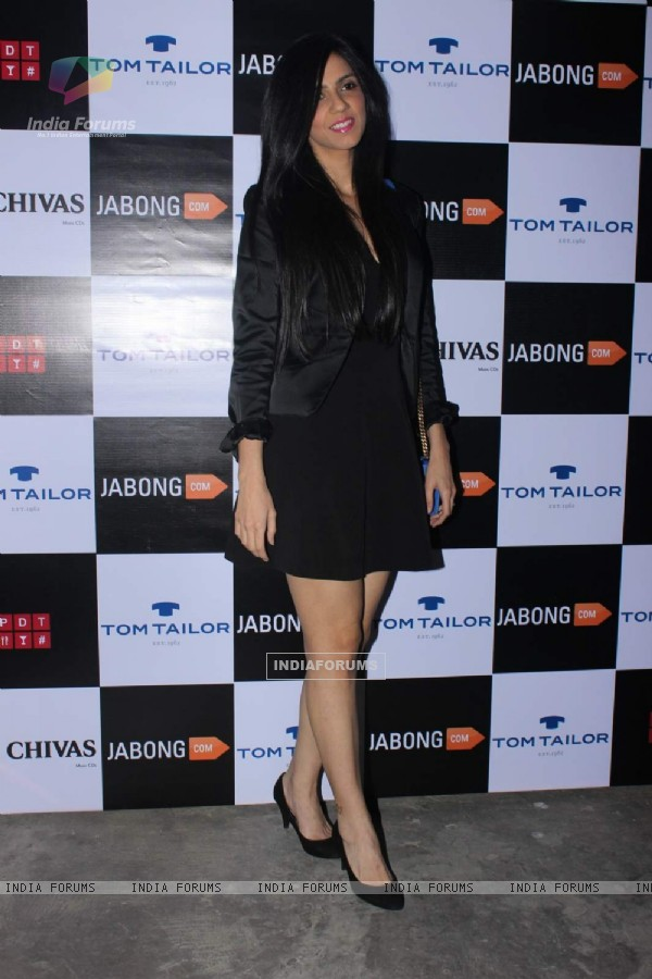 Nishka Lulla poses  for the media at Tom Tailor and Jabong Bash