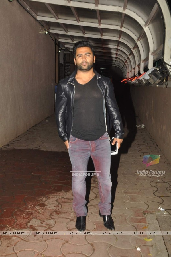 Sachin Joshi poses for the media at Karim Morani's Birthday Bash