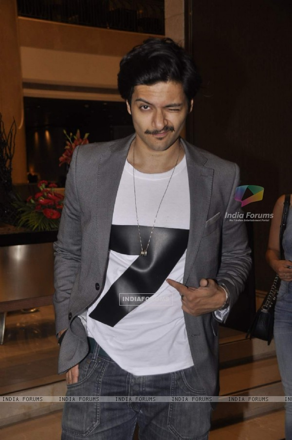 Ali Fazal poses for the media at Lakme Fashion Week 2015 Day 3