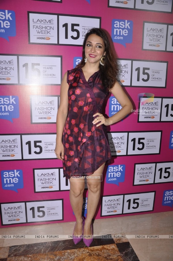 Nauheed Cyrusi at the Grand Finale of Lakme Fashion Week 2015
