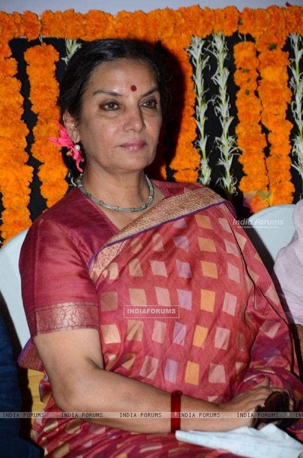 Shabana Azmi at a Political Event