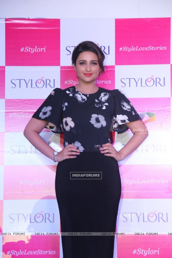 Parineeti Chopra poses for the media at the Launch of Stylori Online Jewelry Store