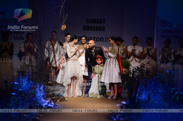 Samant Chauhan Show at Amazon India Fashion Week 2015 Day 2