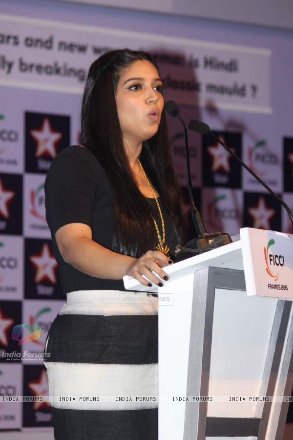 Bhumi Pednekar was seen at FICCI Frames 2015 Day 3