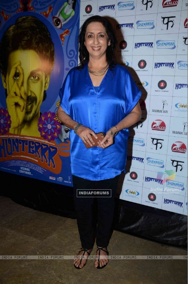 Neena Kulkarni at the Success Bash of Hunterrr