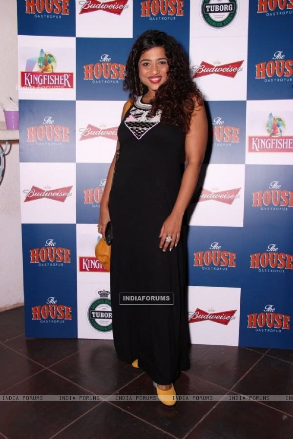 Malishka Mendonca poses for the media at the Launch of The House Restaurant