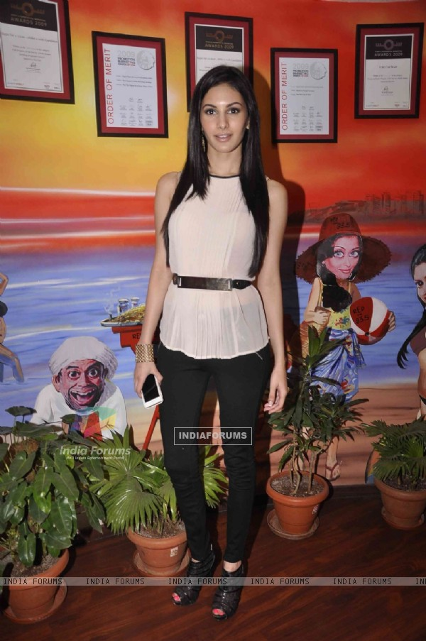 Amyra Dastur poses for the media at the Promotions of Mr. X on Red FM