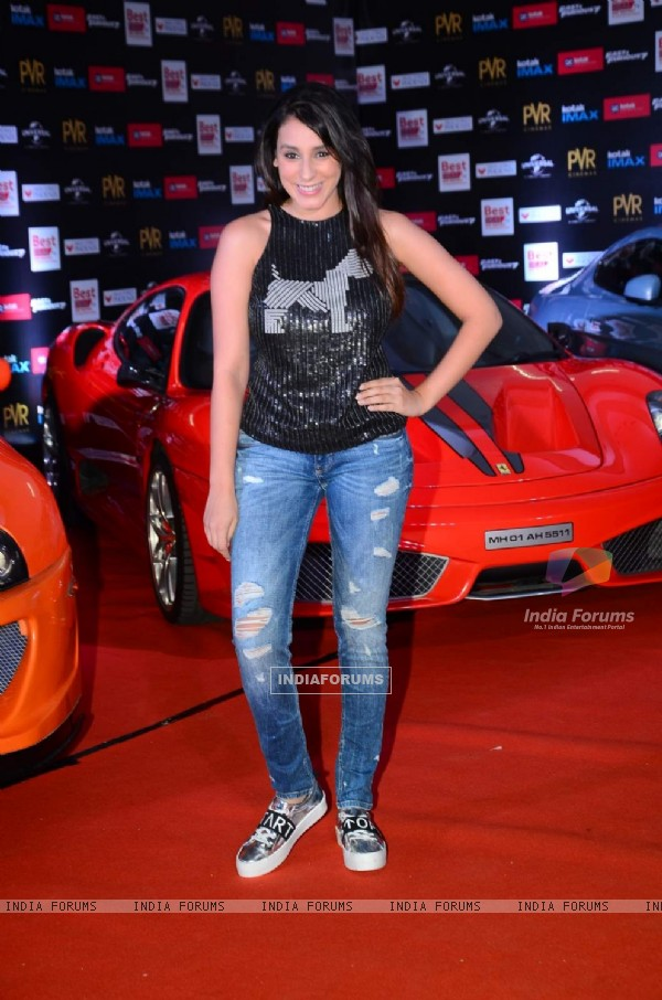 Anindita Naiyar poses for the media at the Premier of Fast & Furious 7