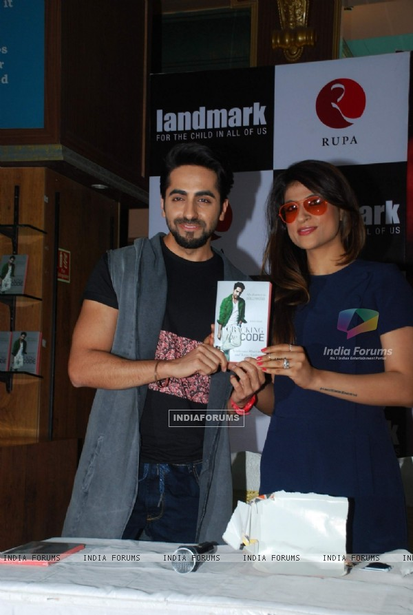 Ayushmann Khurrana with wife Tahira Kashyap Launch the Book Cracking The Code