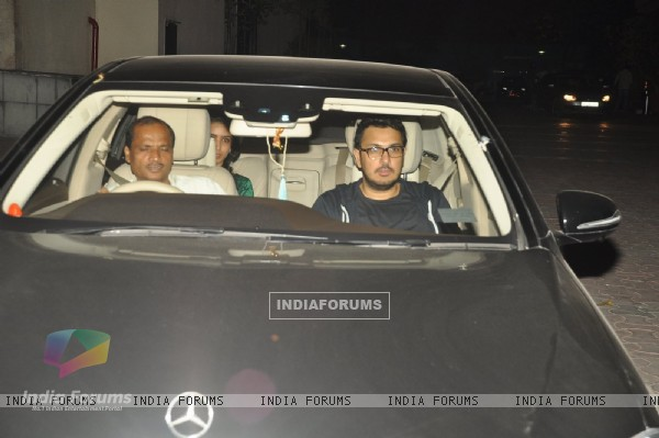 Dinesh Vijan was snapped at the Special Screening of Detective Byomkesh Bakshy! at Yashraj Studio