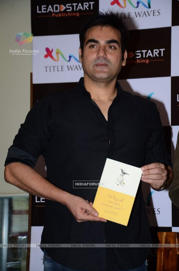 Arbaaz Khan poses with the Book 'Why Not Use Some Common Sense'