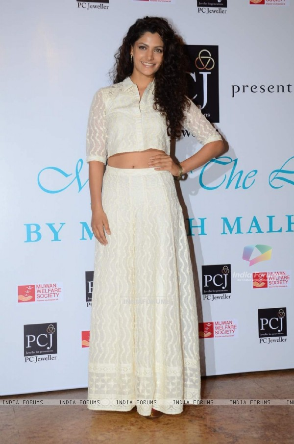 Saiyami Kher poses for the media at the Red Carpet of 'Mijwan-The Legacy'