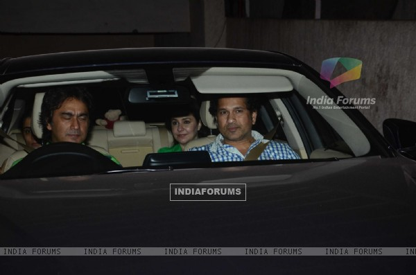 Sachin Tendulkar was snapped at the Special Screening of Fast & Furious 7